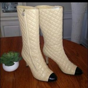 CHANEL Shoes - Chanel high heel boot. Leather